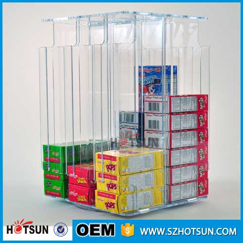 Rotating acrylic cereal box organizer for Cereal organizer