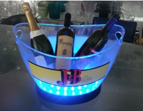 Acrylic ice bucket with led