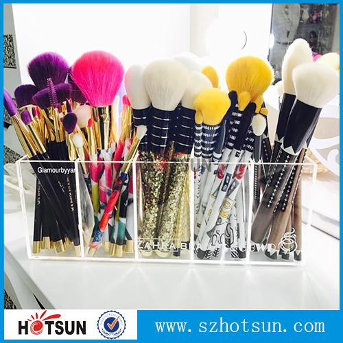 Acrylic Clear Cosmetic Organizer Cheap Make Up Brush Holder