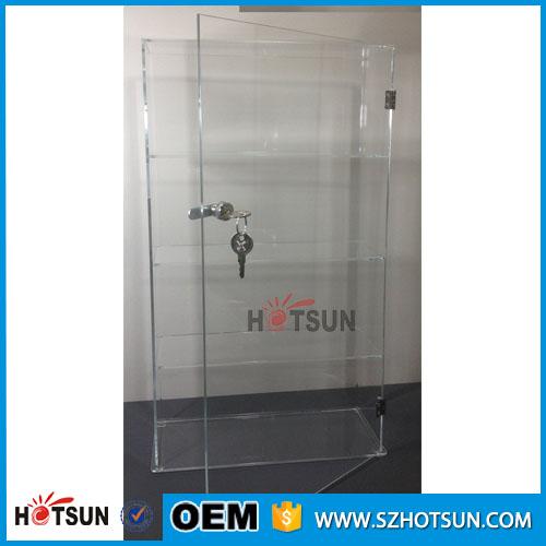Good Quality Custom Acrylic Display Cabinet With Door And Lock