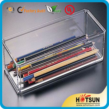 acrylic pencil box