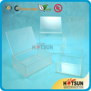 2014 Factory Wholesale Transparent Acrylic Display Box