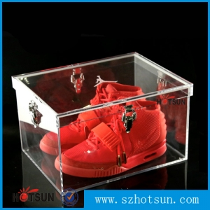 2015 Shoe box manufacturer, mini shoe box, acrylic shoe box airtight