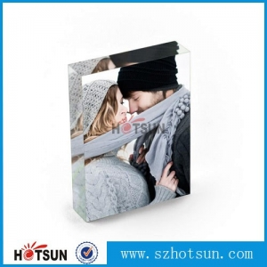 2016 new style acrylic photofunia/photo frame simple acrylic glass design photo frame withlear square