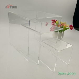 3PACK Clear Acrylic Riser Stand for Product Display 3 Inch 4 Inch 5 Inch