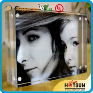 4x6 5x7 Clear Acrylic Magnetic Family Photo Frame