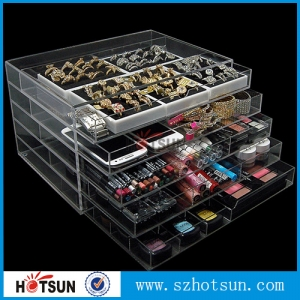 5 drawers clear acrylic makeup organizer suppliers