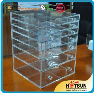 High quality 6 drawer acrylic makeup organizer