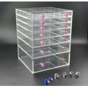 7 tiers wholesale acrylic makeup organizer with drawers