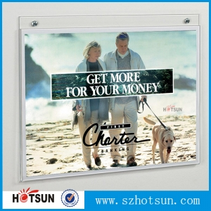 8.5x11 inches horizontal acrylic sign holder clear plexglass paper card stand