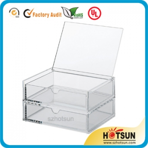 ACRYLIC  2 DRAWERS BOX WITH LID