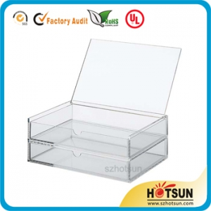 ACRYLIC CASE 2 DRAWERS WITH LID – SMALL