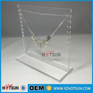 Acrylic Necklace Jewellery Display Stand / Perspex Jewelry Display