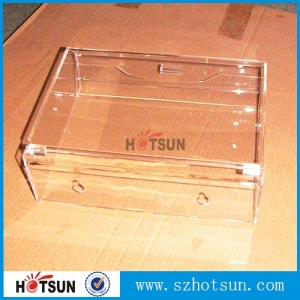 Acrylic display box Transparent Acrylic storage case supplier