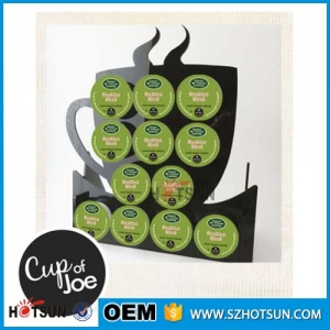Beautiful design coffee cup shape acrylic coffee capsule holder