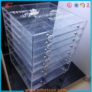 Big sized wholesale acrylic makeup organizer with drawers
