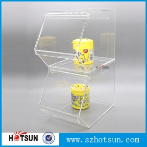 CAB0700 Finely Processed Stackable Clear Acrylic Candy Box Plexiglass Cany Dispenser