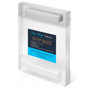 Cheap Price Wall Mounted Plexiglass Picture Frame 8.5x11 Inches Clear Acrylic Sign Holder with Double Sides Adhesive Tape