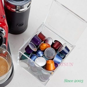 China Factory Produce Coffee Capsule Storage Box High Transparency Clear Acrylic Box for Coffee Pod