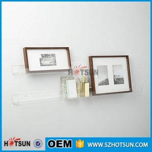 China Supplier High Transparent Clear Acrylic Wall Shelves Plexiglass Book shelf Rack Wall Mounted Shelves