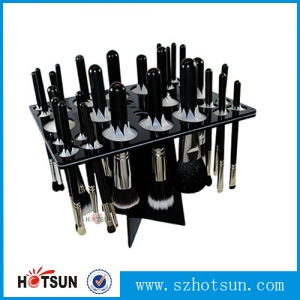 China factory wholesale acrylic makeup brush dryer tree Black White plastic make up brush dryer holder