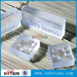 China manufacturer clear Acrylic block supplier