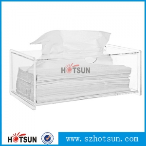 China suppliers price clear acrylic tissue box napkin holder