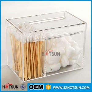 Clear Acrylic 4 Compartment Multipurpose Storage Box With Lid