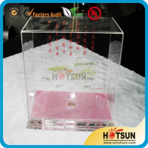 Clear acrylic display sliding lid box small clear acrylic boxes with lids