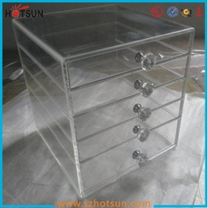 Clear acrylic new inventions cheapest makeup display case with drawer