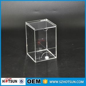 Clear acrylic tea bag dispenser holder box