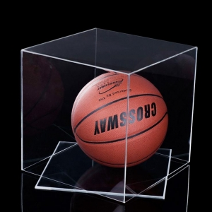 Counter acrylic basketball display case acrylic basketball display stands