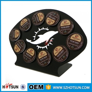 Counter top coffee capsule holder acrylic capsule box hodler