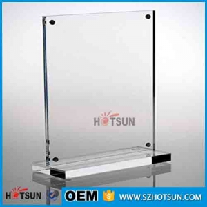 Custom Table Menu Stand Acrylic Magnetic Sign Holder For Restaurant