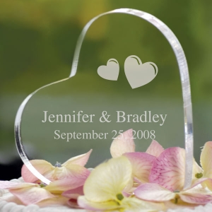Custom Transparent Acrylic heart shape  photo frame