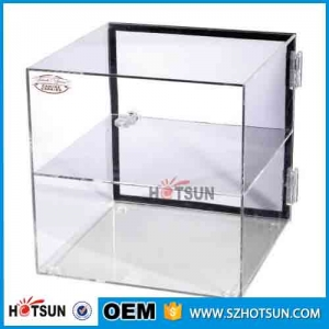 Custom clear acrylic bakery display counter/cabinet/case