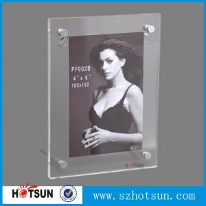 Custom handmade attractive acrylic photo frame ornaments with magnet wholesale