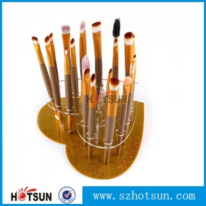 Custom heart shape makeup brush holder with your logo
