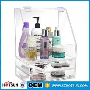 Customized clear acrylic organizer for cosmetic