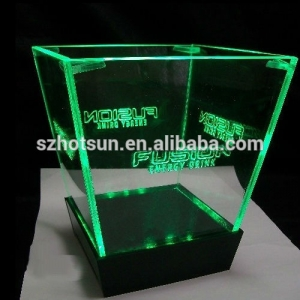 Customized colorful LED illuminated acrylic wine ice bucket wholesale