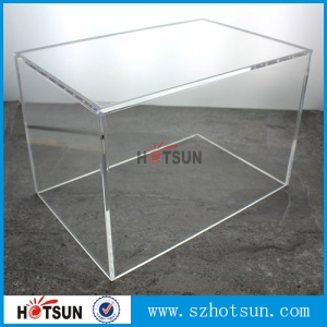 Customized large acrylic 5-sided box from china supplier