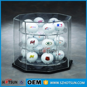 Deft design acrylic golf ball display for 18 balls