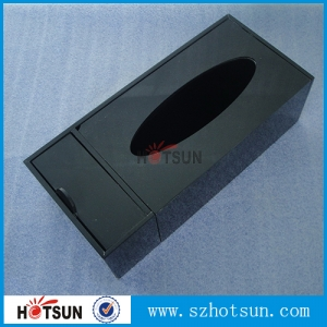 Desktop Perspex Tissue box Black wholesale