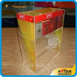 Elegant clear acrylic cigarette display cabinet