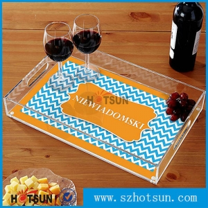 Exquisite acrylic accessories serving trays display tray for sale
