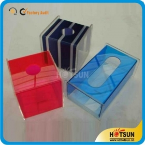 Factory custom clear acrylic tissue box/color acrylic tissue box