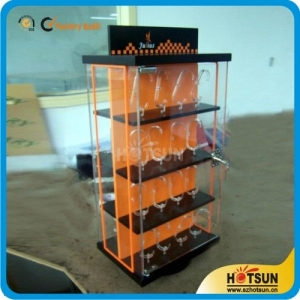Factory wholesale clear acrylic rotating watch display case