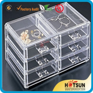 Fashion clear countertop acrylic cosmetic display organizer