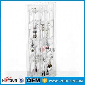 Folded Clear Acrylic Jewelry Earrings Display Stand