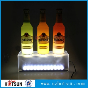 Frosted acrylic wine bottle holder